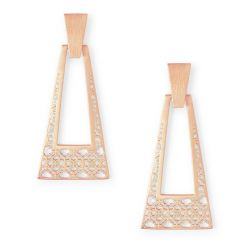Kendra Scott Kase Large Statement Earrings, Rose Gold-Plated