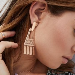 Kendra Scott Kase Small Statement Fringe Earrings, Rose Gold-Plated
