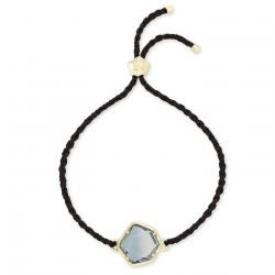 Kendra Scott Vanessa Friendship Bracelet in Steel Gray Ombré, Gold-Plated