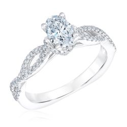 Kleinfeld Fine Jewelry Barrow Engagement Ring 1ctw