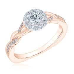 Kleinfeld Fine Jewelry Crosby Engagement Ring 1/2ctw