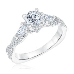 Kleinfeld Fine Jewelry Trinity Engagement Ring 1 3/8ctw