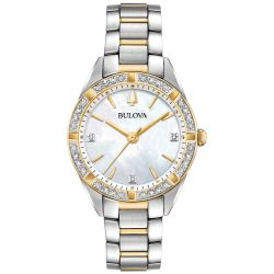 Ladies' Bulova Classic Sutton Diamond Two-Tone Stainless Steel Watch 98R263