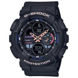 Ladies' Casio G-Shock S-Series Black Resin Band Watch GMAS140-1A