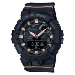 Ladies' Casio G-Shock S-Series G-Squad Connected Black Resin Watch GMA-B800-1A