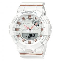 Ladies' Casio G-Shock S-Series G-Squad Connected White Resin Watch GMA-B800-7A