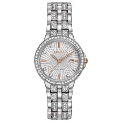 Ladies' Citizen Eco-Drive Silhouette Crystal Watch EW2340-58A