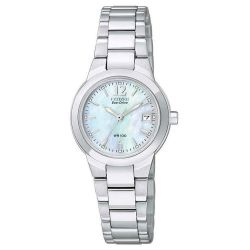 Ladies' Citizen Eco-Drive Silhouette Mother of Pearl Dial Watch EW1670-59D