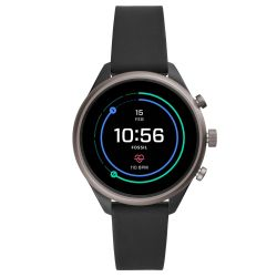 Ladies' Fossil Sport Smartwatch in Black Silicone FTW6024