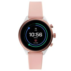 Ladies' Fossil Sport Smartwatch in Blush Silicone FTW6022