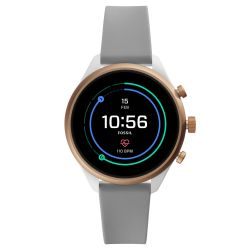 Ladies' Fossil Sport Smartwatch in Gray Silicone FTW6025