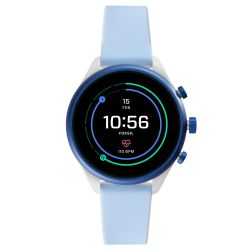 Ladies' Fossil Sport Smartwatch in Light Blue Silicone FTW6026