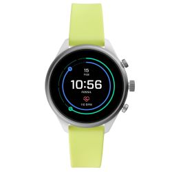 Ladies' Fossil Sport Smartwatch in Neon Silicone FTW6028