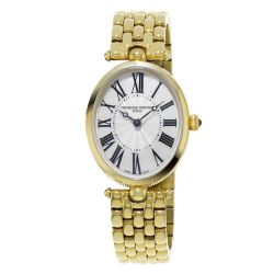 Ladies' Frederique Constant Classics Art Deco Yellow Gold-Plated Watch FC-200MPW2V5B
