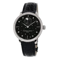 Ladies' Frederique Constant Slimline Moonphase Stars Manufacture Stainless Steel Watch FC-701BSD3SD6