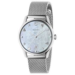 Ladies' Gucci G-Timeless Stainless Steel Mesh Bracelet Watch YA1264040