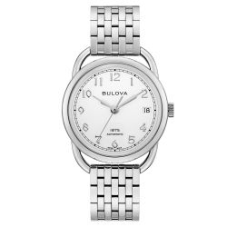 Ladies' Joseph Bulova Commodore Limited Edition Automatic Stainless Steel Watch 96M153