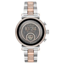 Ladies' Michael Kors Access Sofie Heart Rate Crystal Pavé Two-Tone Smartwatch MKT5064