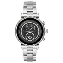 Ladies' Michael Kors Access Sofie Heart Rate Silver-Tone Smartwatch MKT5061