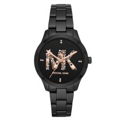 Ladies' Michael Kors Runway Quartz Black-Tone Stainless Steel Watch MK6683
