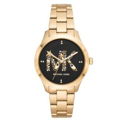 Ladies' Michael Kors Runway Quartz Gold-Tone Stainless Steel Watch MK6682