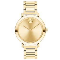 Ladies' Movado BOLD Evolution Pale Gold-Tone Ion-Plated Stainless Steel Watch 3600648
