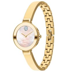 Ladies' Movado BOLD Pale Gold-Tone Stainless Steel Crystal Dot Watch 3600627