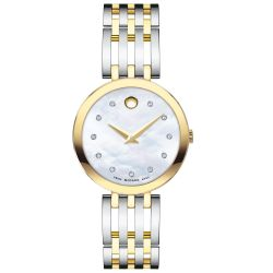 Ladies' Movado Esperanza Two-Tone Mother of Pearl Dial Watch 0607305
