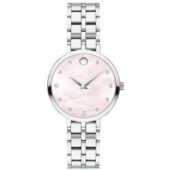 Ladies' Movado Kora Diamond Pink Mother-of-Pearl Dial Watch 0607322