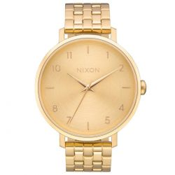 Ladies' Nixon Arrow Gold-Tone Stainless Steel Watch A1090502