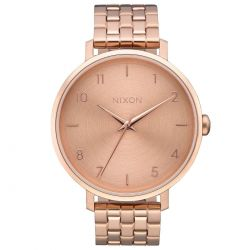 Ladies' Nixon Arrow Rose Gold-Tone Stainless Steel Watch A1090897