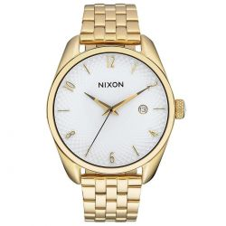 Ladies' Nixon Bullet White Dial Yellow Gold-Tone Watch A418508