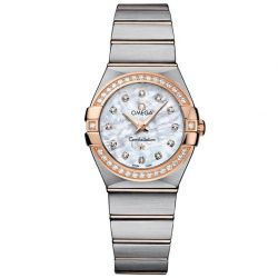 Ladies' OMEGA Constellation Diamond Two-Tone Watch O12325276055001