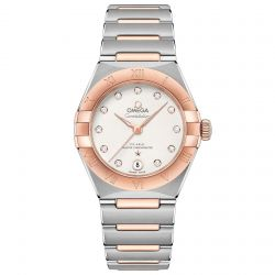 Ladies' OMEGA Constellation Manhattan Automatic Two-Tone Watch O13120292052001
