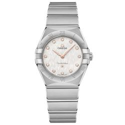 Ladies' OMEGA Constellation Manhattan Diamond Quartz Two-Tone Watch O13110286052001