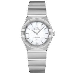Ladies' OMEGA Constellation Manhattan Mother of Pearl Dial Watch O13110286005001