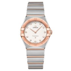 Ladies' OMEGA Constellation Manhattan Quartz Two-Tone Diamond Watch O13120286052001