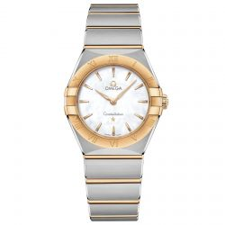 Ladies' OMEGA Constellation Manhattan Quartz Two-Tone Watch O13120286005002