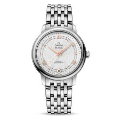 Ladies' OMEGA De Ville Prestige Co-Axial Diamond Silver Dial 33mm Watch O42410332052001