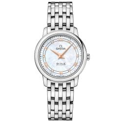 Ladies' OMEGA De Ville Prestige Quartz Mother-of-Pearl Dial Watch O42410276055001