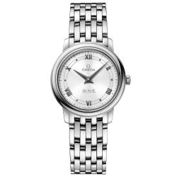 Ladies' OMEGA De Ville Prestige Quartz Stainless Steel Watch O42410276004001