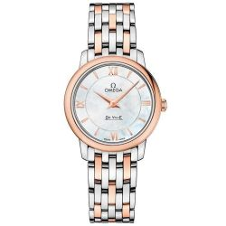 Ladies' OMEGA De Ville Prestige Quartz Two-Tone Stainless Steel Watch O42420276005002