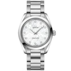 Ladies' OMEGA Seamaster Aqua Terra Diamond Stainless Steel Watch O22010286055001