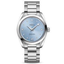 Ladies' OMEGA Seamaster Aqua Terra Light Blue Dial Diamond Watch O22010286053001