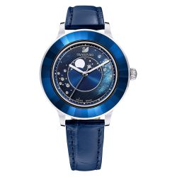 Ladies' Swarovski Octea Lux Moon Special Edition Blue Leather Watch 5516305