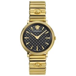 Ladies' Versace V-Circle Logomania Gold-Tone Watch VE8101519