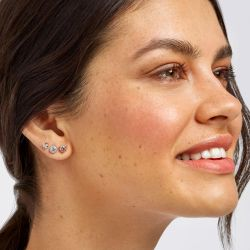 Lightbox Pink Lab Grown Diamond Stud Earrings 1/4ctw