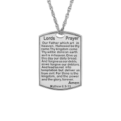 Alison and Ivy Lord's Prayer Necklace 18x25mm