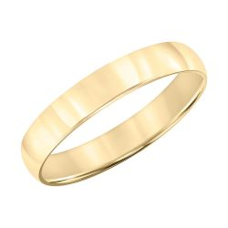Low Dome Yellow Gold 4mm Comfort Fit Wedding Band