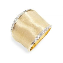 Marco Bicego Lunaria Yellow Gold and Diamond Ring 1/7ctw - Size 7